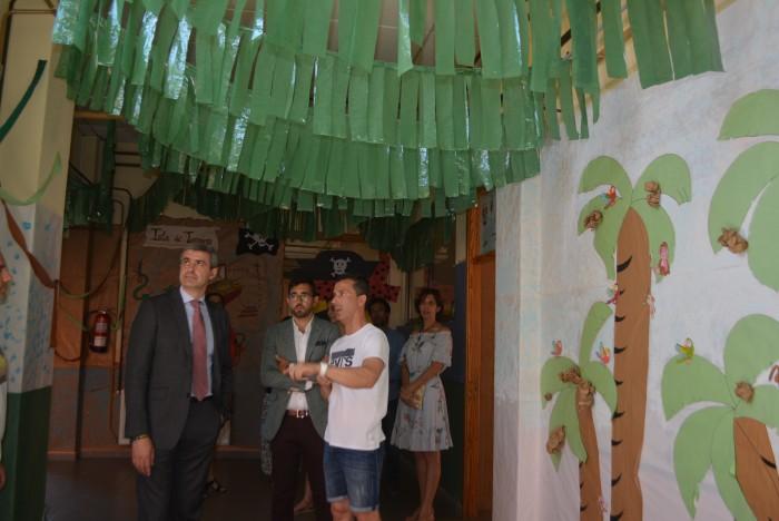 Álvaro Gutiérrez y Luis Martín en el colegio