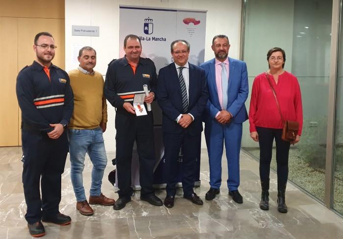 Rafael Martín con Juan Alfonso Ruíz Molina y premiados
