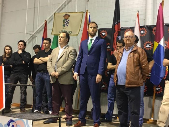 José Luís Fernández en Alcolea de Tajo en la inauguración de los Juegos de la Comarca