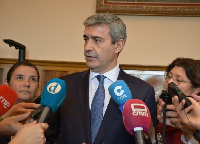 Álvaro Gutiérrez anunciando que la Gala del Deporte se celebrará en Talavera de la Reina