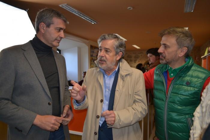 Álvaro Gutiérrez con Carlos Iglesias y José Mota