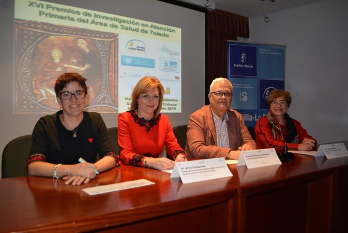 María José Gallego en la presentación de trabajos de Atención Primaria