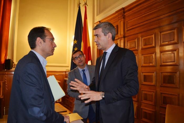 Álvaro Gutiérrez,  Fernando Muñoz y Santiago García Aranda