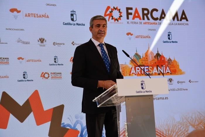Álvaro Gutiérrez en la inauguración de FARCAMA