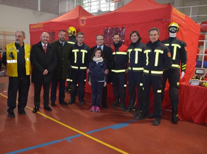 Con los bomberos del Consorcio provincial de Toledo