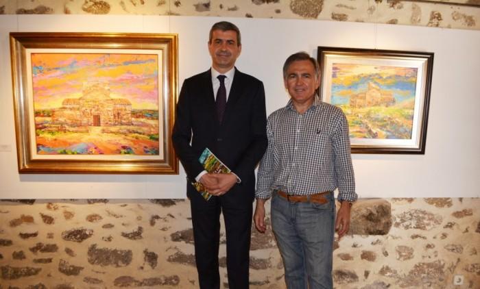 Álvaro Gutiérrez y Fidel María Puebla en Melque (archivo)