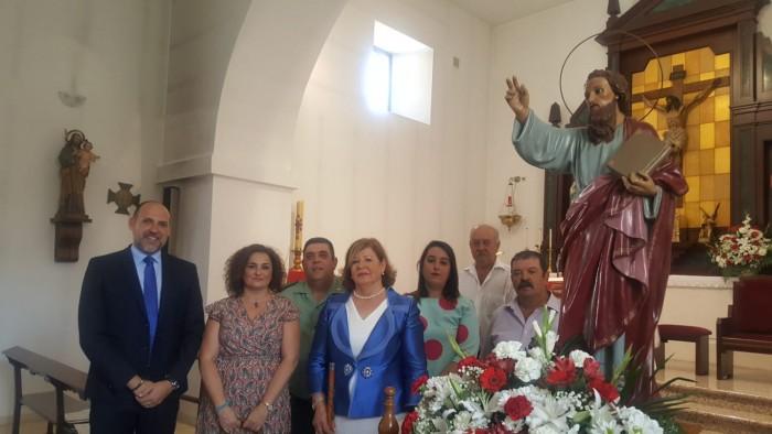 Cristina Cebas delante de San Bartolomé
