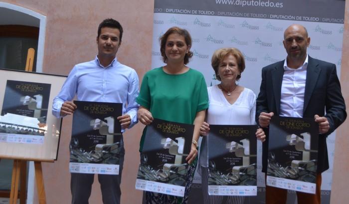 María Ángeles García con Javier Dueñas, Isabel Sánchez y Ángel Harry
