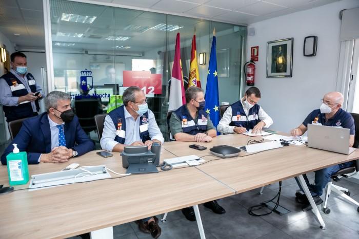 Álvaro Gutiérrez en la reunión del Comité Asesor del Plan Específico ante Riesgos por Fenómenos