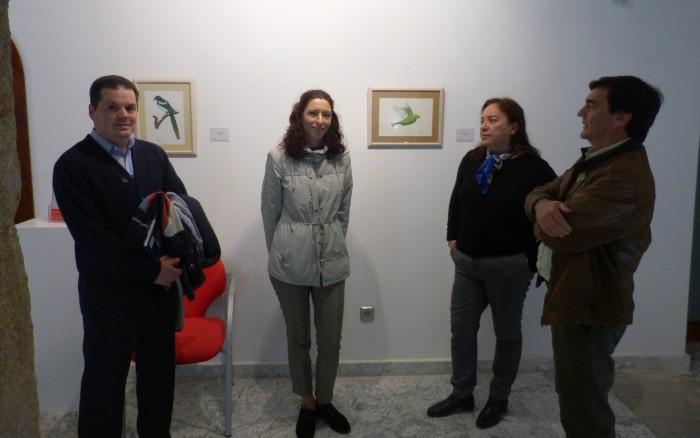 Yolanda Fernández en la inauguración de su exposición