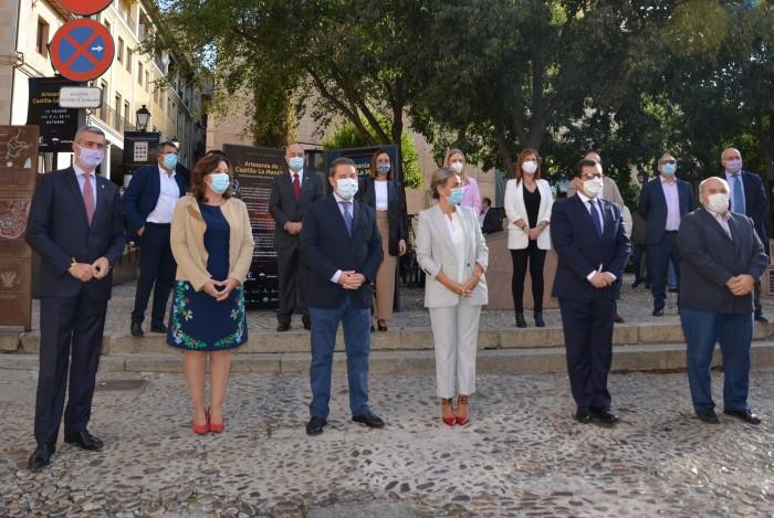 Álvaro Gutiérrez en la inauguración del Paseo de los artesanos de Toledo