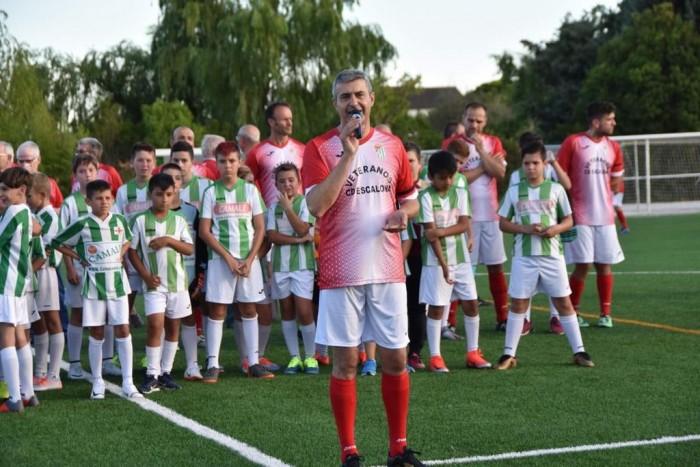Álvaro Gutiérrez interviene en la inauguración campo de fútbol