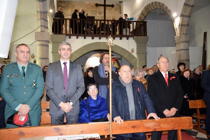Álvaro Gutiérrez junto al alcalde de Paredes de Escalona en la misa del patrón San Vicente
