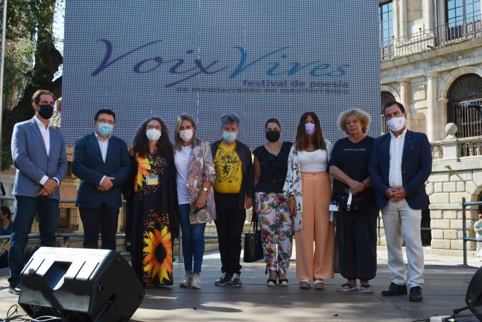 Cristina Cebas en la inauguración de Voix Vives