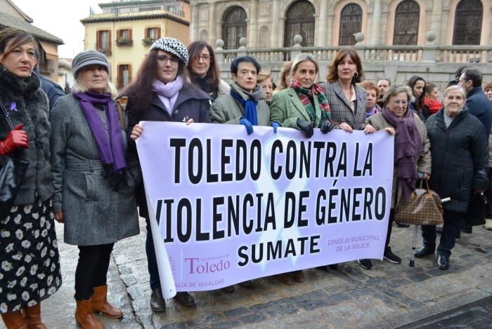 Ana Gómez en la concentración contra violencia mujeres