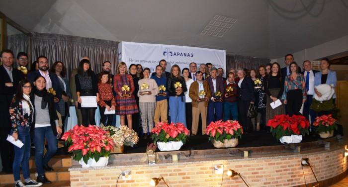maría José Gallego con todos los premiados