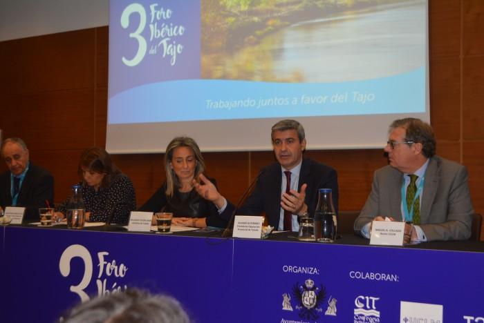 Álvaro Gutiérrez ha defendido el fin de los trasvases en el Foro Ibérico del Tajo