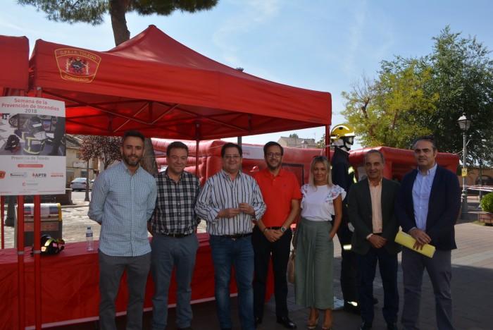 Tomás Villarrubia en Sonseca en la presentación de la Semana de la Prevención de Incendios 2018