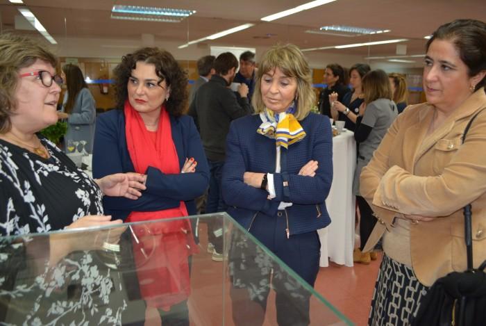 Cristina Cebas en la inauguración