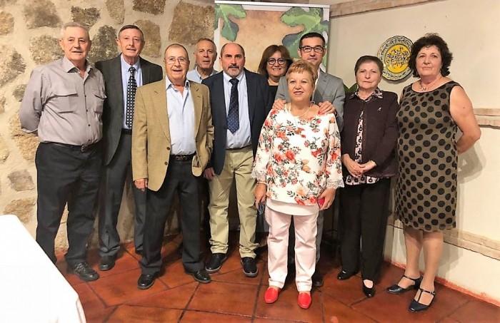 Fernando Muñoz con la Asociación de Mayores
