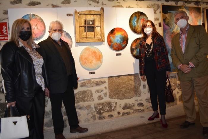 Ana Gómez en la apertura de la exposición