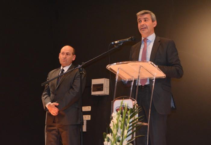 Álvaro Gutiérrez en un momento de su pregón en las fiestas de Cabañas de la Sagra
