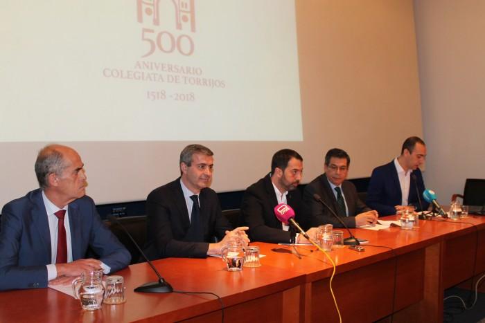 Álvaro Gutiérrez en la presentación del V Centenario de la Colegiata de Torrijos