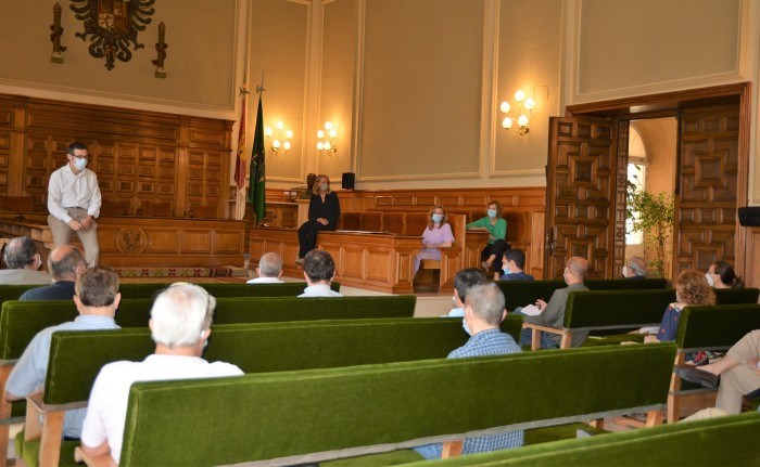 Fernando Muñoz en la reunión de coordinación con responsables de áreas de la Diputación