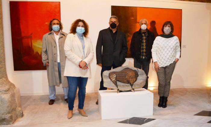 Cristina Cebas con algunos de los artistas de Sofismas
