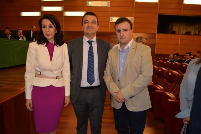 Ángel Luengo, con Francisco Martínez y Blanca Corroto