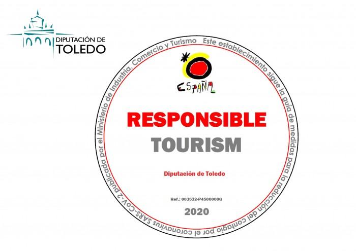Sello recibido por la Oficina de Turismo de la Diputación de Toledo