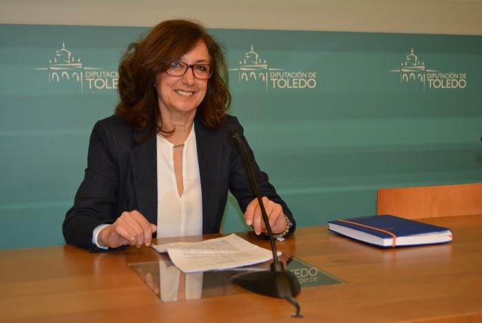 Ana Gómez durante la rueda de prensa