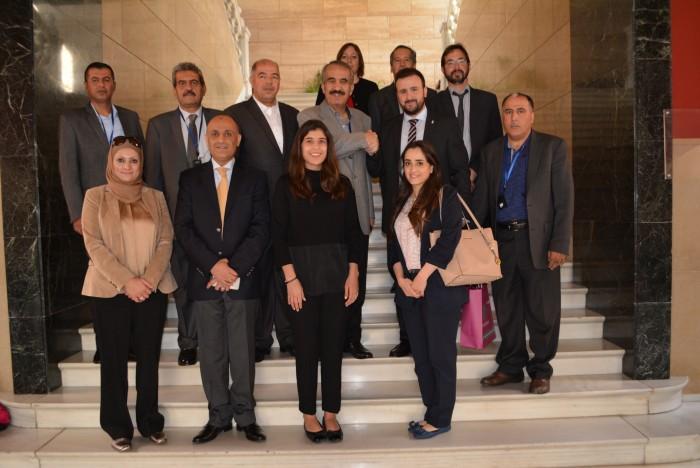 Ángel Luengo con la delegación jordana