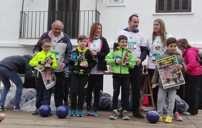 María Jesús Pérez en la entrega de trofeos