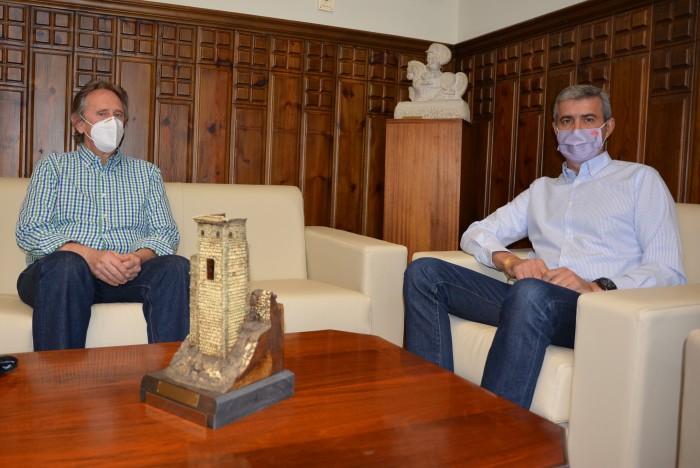 Álvaro Gutiérrez y José Manuel de Miguel durante la reunión