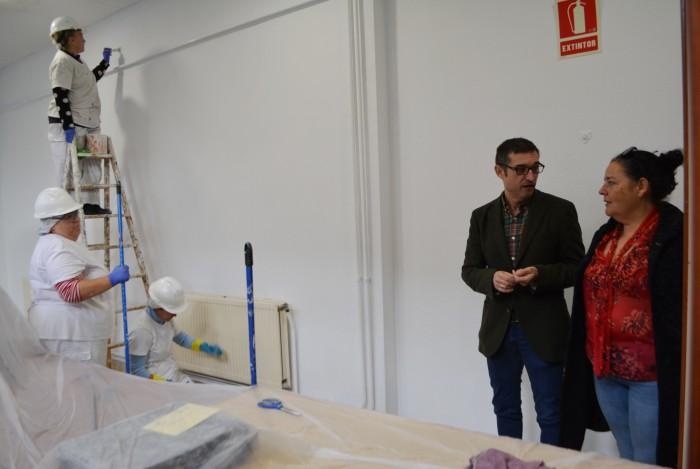 Fernando Muñoz y Carmen Cano visitando el programa