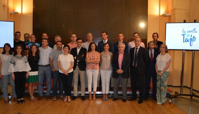 Foto de familia patrocinadores y colaboradores la Vuelta del Tajo