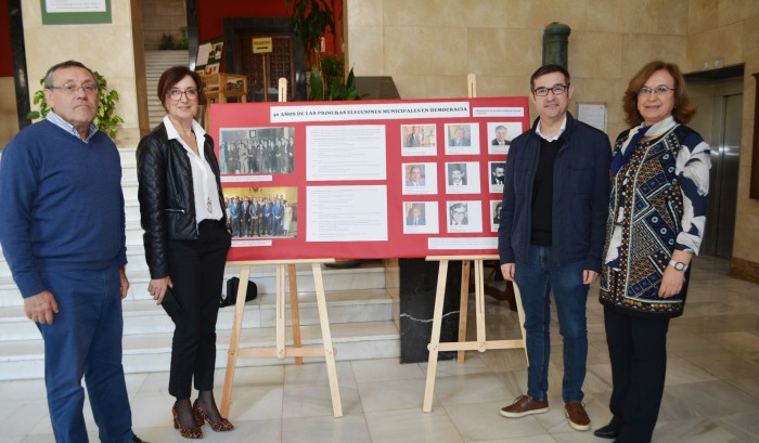 Fernando Muñoz y Ana Gómez en la exposición