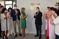 Álvaro Gutiérrez en la inauguración del consultorio de Yuncos