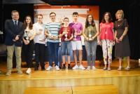 Ana Gómez con los ganadores