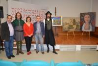 María Ángeles García con los pintores y trovadores