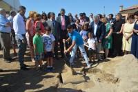 Álvaro Gutiérrez en la colocación de la primera piedra del segundo IES de Yuncos