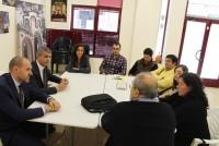Álvaro Gutiérrez en la reunión con los representantes de la Federación de Asociaciones de Vecinos