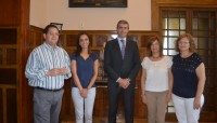 Foto de archivo del presidente de la Diputación con AFATA