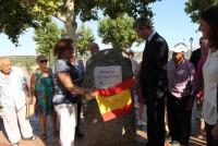 Álvaro Gutiérrez y Carmen Alfajeme inauguran el parque de las Eras de Parrillas