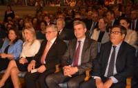Álvaro Gutiérrez en el teatro de Rojas minutos antes de iniciarse el pregón del Corpus
