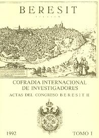 Actas del Congreso Beresit II. Tomo I