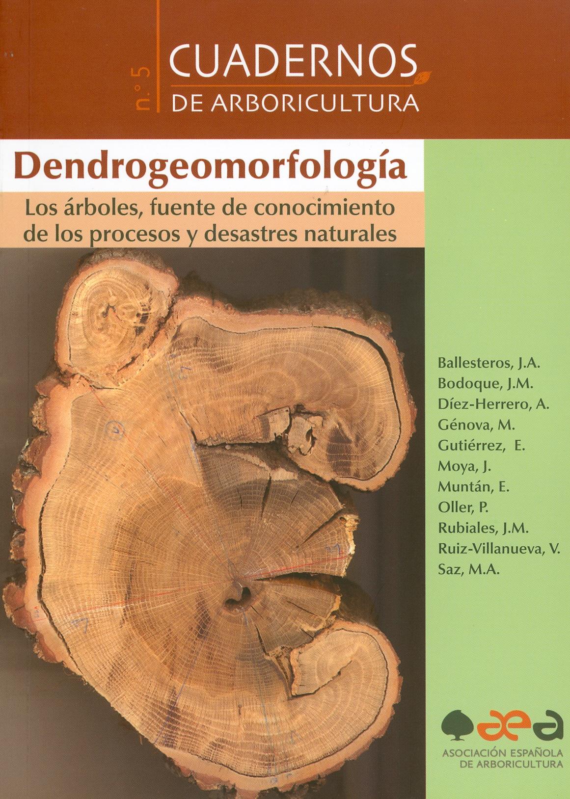 Dendrogeomorfología. Los árboles, fuente de conocimiento de los procesos y desastres naturales
