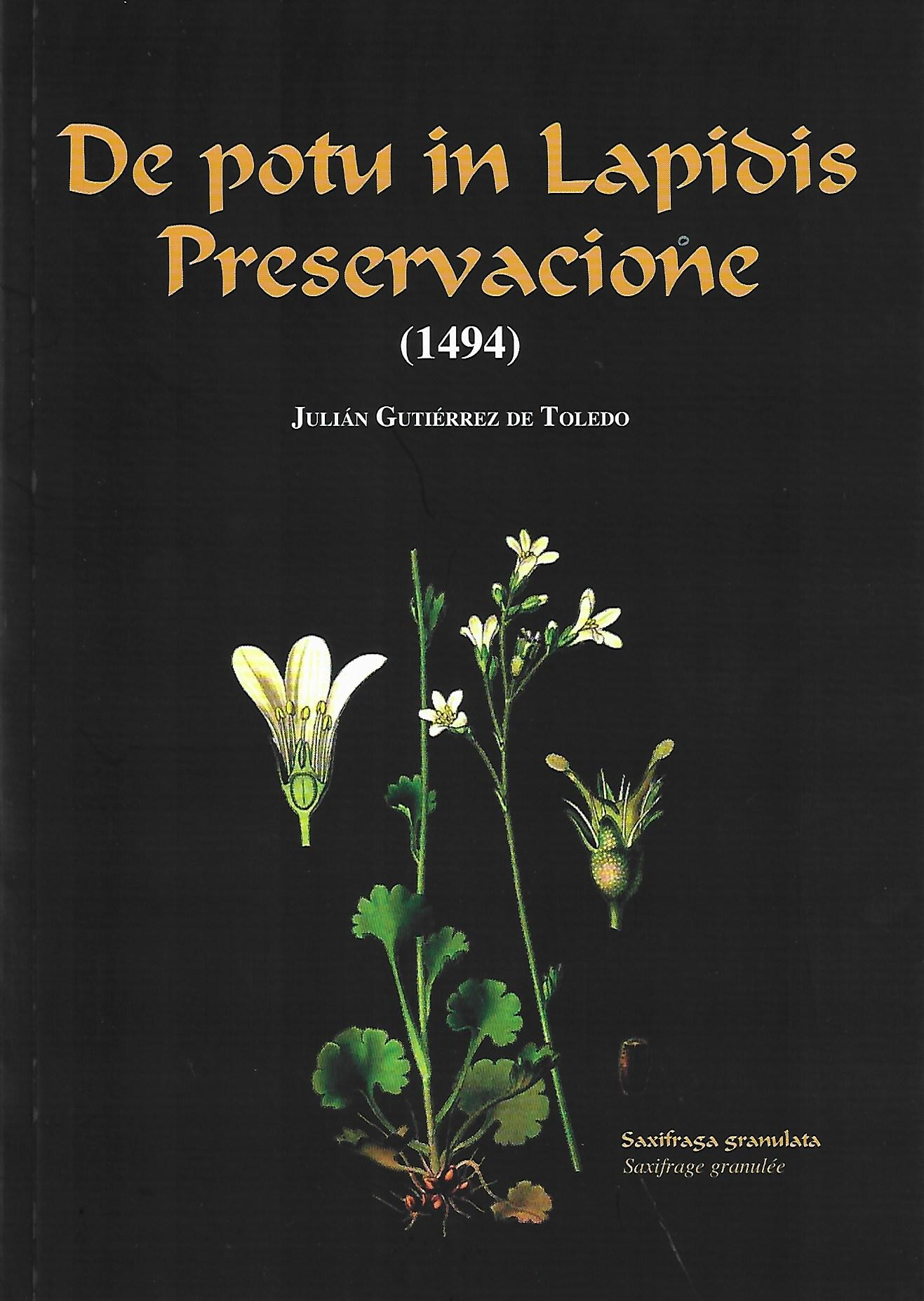 De potu in Lapidus preservacione (1494)